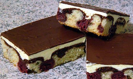 German Donauwelle or Schneewittchenkuchen recipe! LECKER! Yummy!