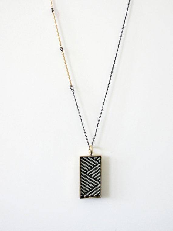 new wave...peyote stitch pendant necklace
