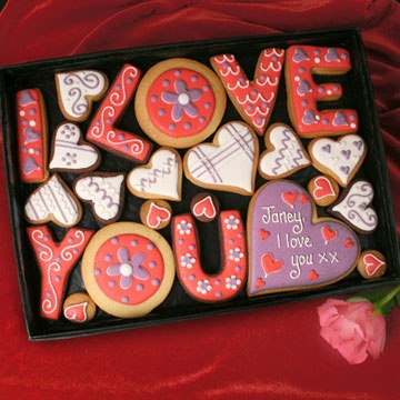 Personalised 'I Love You' Cookies Gift Box