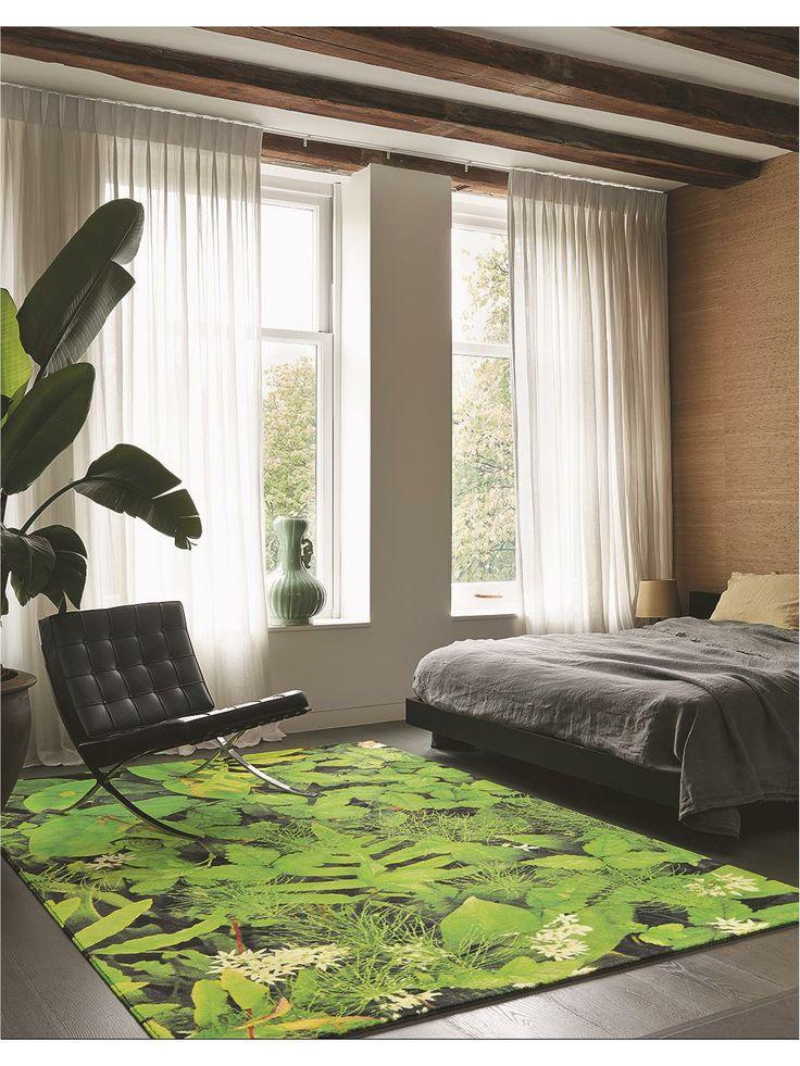 """Ein modernes und besonders auffälliges Exemplar aus unserer Lifestyle-Kategorie """"Natural Living"""": Der Teppich Kaleidoscope Hortus ist nicht nur dank seines Drucks """"natürlich"""" - er ist maschinengewebt aus 100% Schurwolle. #benuta #teppich #interior #rug"""