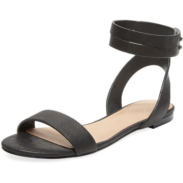 Alex + Alex Women's Two Piece Flat Leather Sandal - Black - Size 5.5 - 186 Best Flat Sandals Images On Pinterest Shoes, Flat Sandals