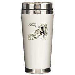 Ceramic travel mug, $48