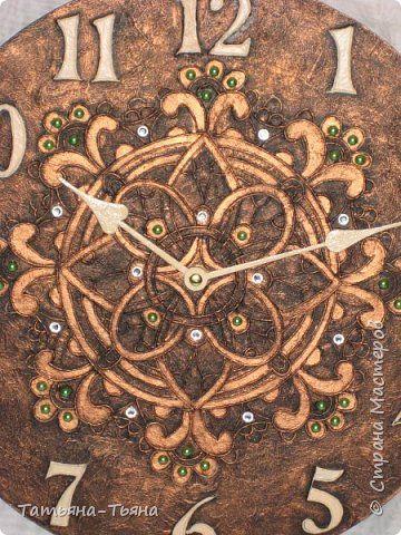 Декор предметов Аппликация из скрученных жгутиков Часы и органайзер в технике пейп-арт Акварель Салфетки фото 6