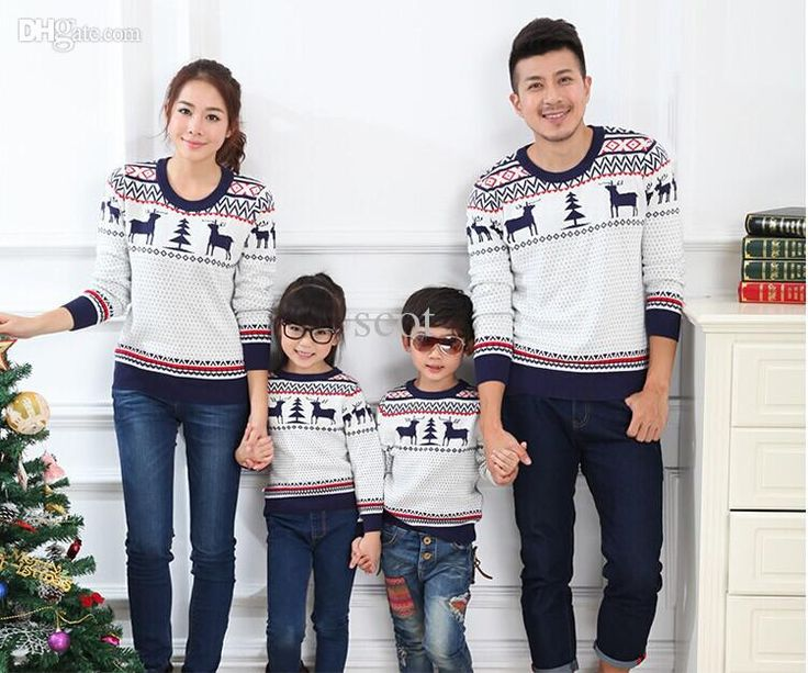Family matching christmas sweaters