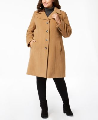 63d22c863cc Plus Size Single-Breasted Coat