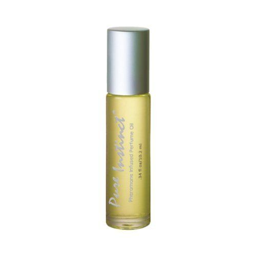 Pure Instinct Roll on Pheromone Infused Perfume/cologne by Pure Instinct. $10.77. Roll on applicator bottle. Pure Instinct Pheromone Sex Attractant  New packaging - .34oz Roll on applicator bottle The gender friendly sex attractant.  Only the highest quality of pheromones are used in this rich combination of rare fragrant essential oils. This fine fragrance is light and sensual, it's not made to be overpowering so you can wear it alone or combine it with your f...