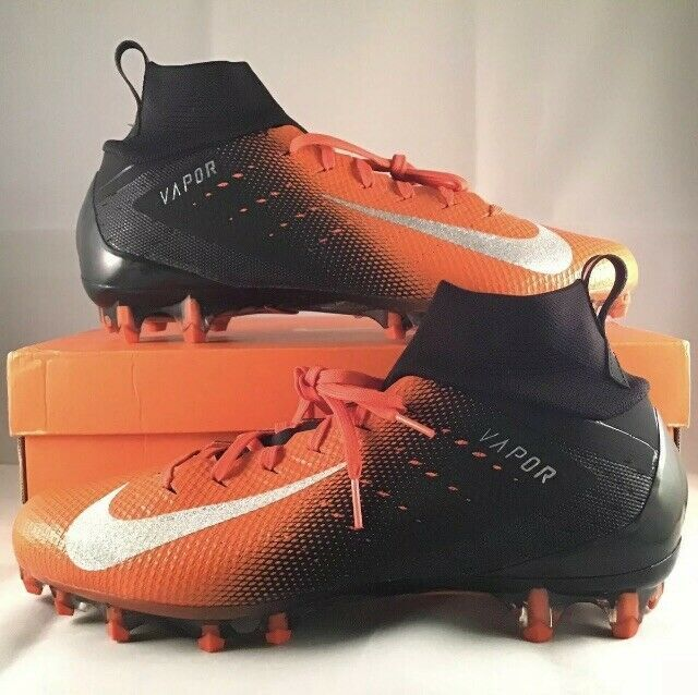 Advertisement Ebay Nike Vapor Untouchable Pro 3 Football Cleats Size 11 5 Black Orange 917165 008 Football Cleats Nike Vapor Orange Black