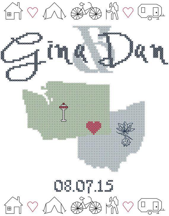 12 best Wedding Cross Stitch images on Pinterest | Cross stitches ...