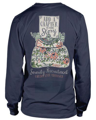 Panhellenic Recruitment T-shirt.  Love this!