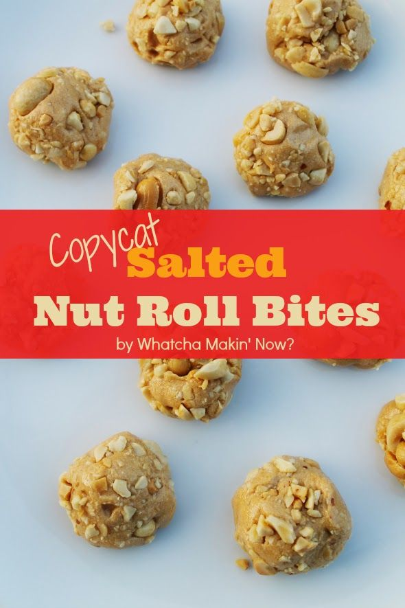 [Copy Cat] Salted Nut Roll Bites Recipe - such a fun, easy dessert. Bites are always so much more fun than bars!
