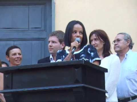Alizée:  Part of her speech on birthday in Ajaccio 2013