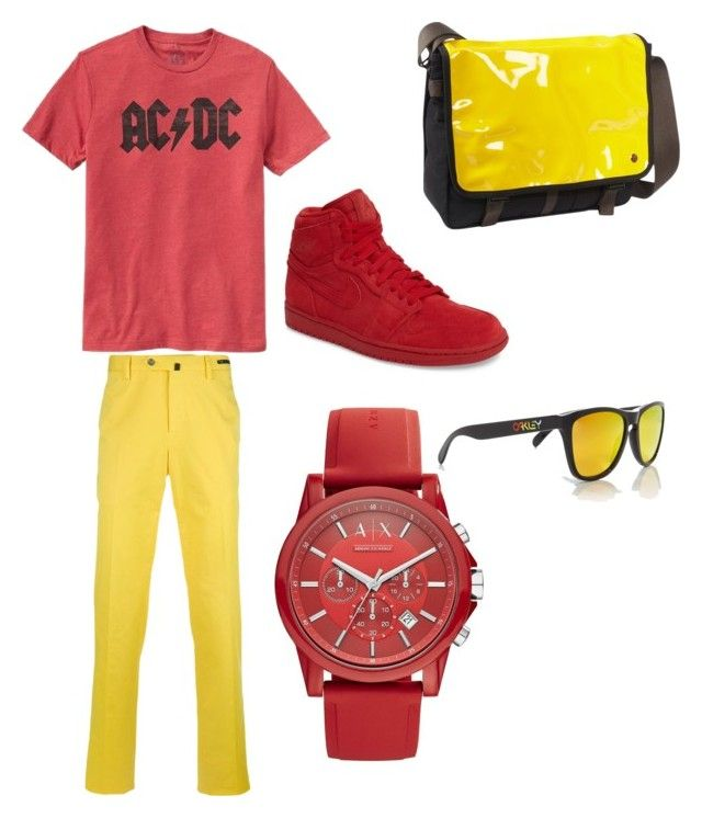 """""""MALE!Gryffindor Outfit Aesthetic"""" by alowther20 ❤ liked on Polyvore featuring Gap, PT01 Pantaloni Torino, NIKE, Armani Exchange, Token, Oakley, men's fashion and menswear"""