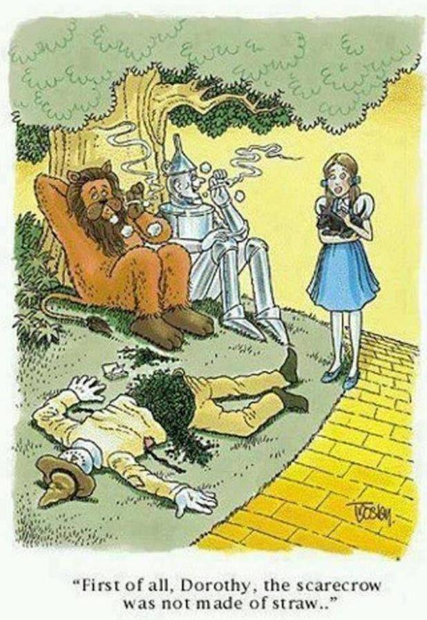 Wizard of Oz Scarecrow Weedman Funny Stoner Humor Meme