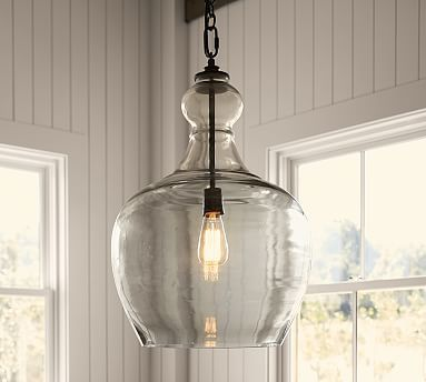 Flynn Recycled Glass Pendant #potterybarn - Kitchen