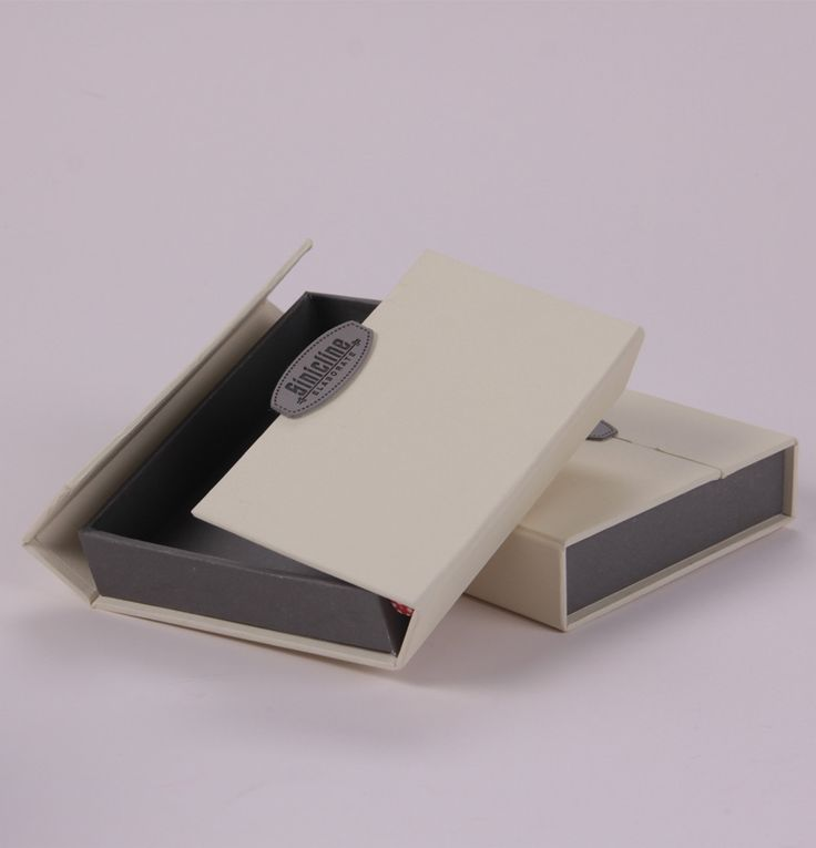 Custom clamshell paper box for wallet #packaging