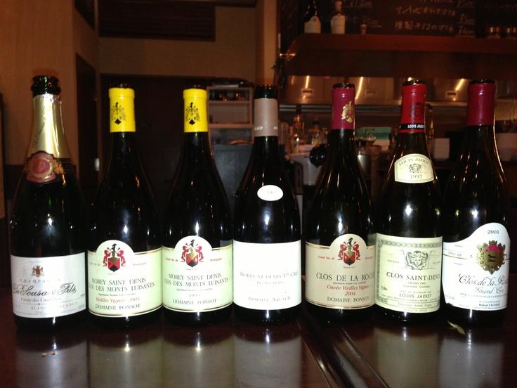 Full line-up of Morey-St.-Denis!
