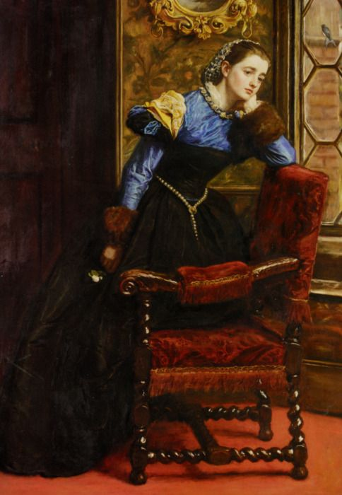 John Everett Millais :: Swallow Swallow Oh swallow flying from the golden woods/ Fly to her, and pipe and woo her and make her mine/ And tell her, tell her, that I follow thee. Tennyson/