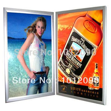 Free Shipping Custom poster board  Aluminum Alloy Poster Frame  Picture Frame  Wall Mount Advertising Poster (free printing)