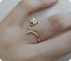 So cute!: Cats, Cat Ring, Style, Rings, Jewelry, Accessories