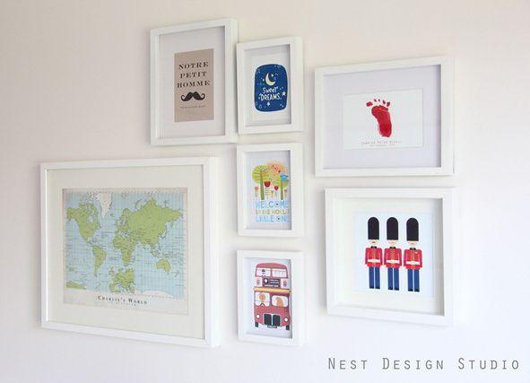 Love this assortment of artworkNests Design, Baby Boys Nurseries, Nurseries Wall Art, Wall Art Decor, Gallery Wall, Baby Bedrooms, Design Studios, Bedrooms Ideas, Baby Nurseries