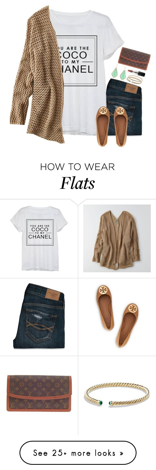 """""""Are you the Coco to my Chanel?"""" by thedancersophie on Polyvore featuring Abercrombie & Fitch, Chanel, American Eagle Outfitters, Tory Burch, David Yurman, Kendra Scott, LC Lauren Conrad, Louis Vuitton and MAC Cosmetics"""