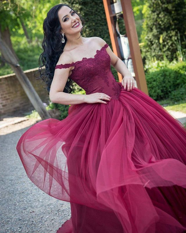 324 best Burgundy prom dresses images on Pinterest | Party wear ...