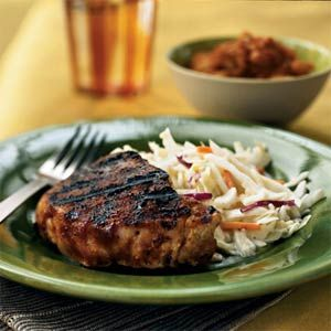 Pork Chops with Carolina Rub: Pork Recipes, Rubbed Recipes, Spices Rubbed, Grilled Pork Chops Rubbed, Cooking Light, Porkchops Rubbed, Center Cut Pork Chops Recipes, Carolina Rubbed, Grilled Recipes Pork