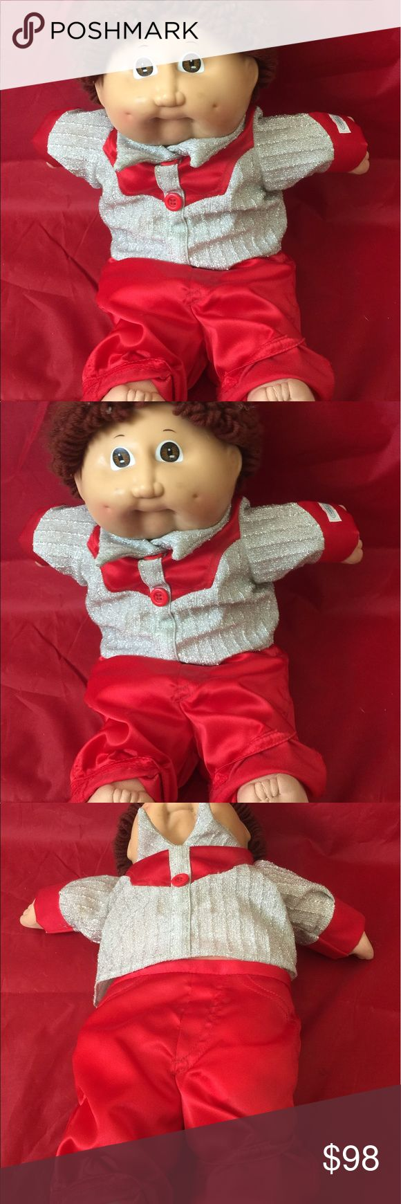 """CABBAGE PATCH KIDS 16"""" CLASSIC DOLL May I present a very pretty cabbage patch kid from the 18 the little boy in great condition for his age He has red  also he has red  and silver clothes. Made in Taiwan. cabbage patch kids Other"""