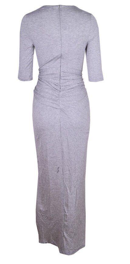 Keisha Knotted Maxi Dress (Heather Grey)