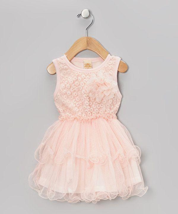 Mia Belle Baby Dusty Rose Vintage Rosette Dress Toddler