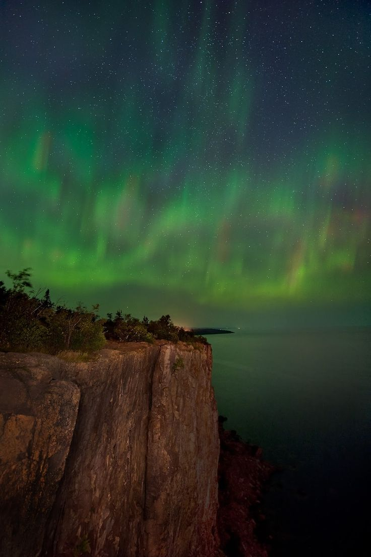 Aurora Borealis- Lake Superior by Jim Brandenburg