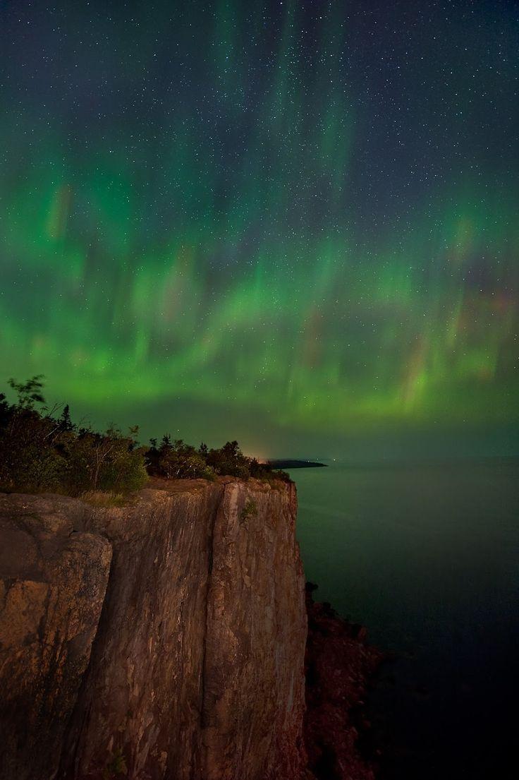 Aurora Borealis- Lake Superior by Jim Brandenburg