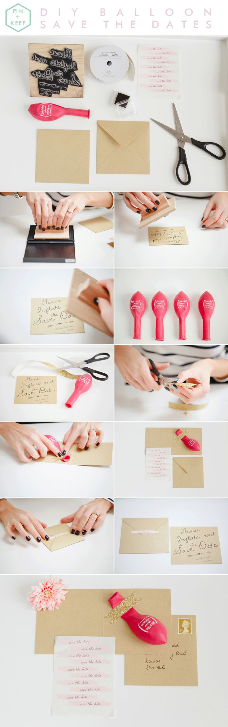 "Cute balloon save the date DIY via @blovedblog - ""Please inflate and save the date!"""