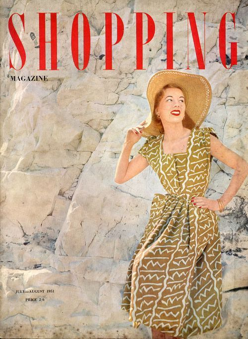 Image result for vintage chic woman shopping magazine