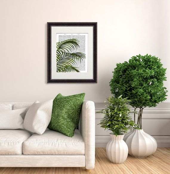 Palm leaf print Palm Leaf 1 fan palm tree by DottyDictionary