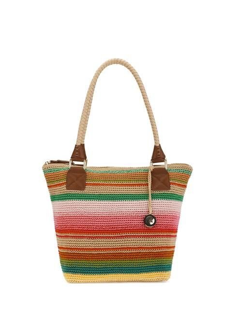 Our favorite tote in an new updated version and new colors featuring our signature Tight weave crochet and double handle.