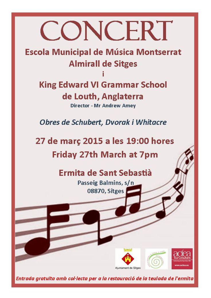 Concert de King Edward VI Gammar School a l'ermita de Sant Sebastià (27.03.2015)