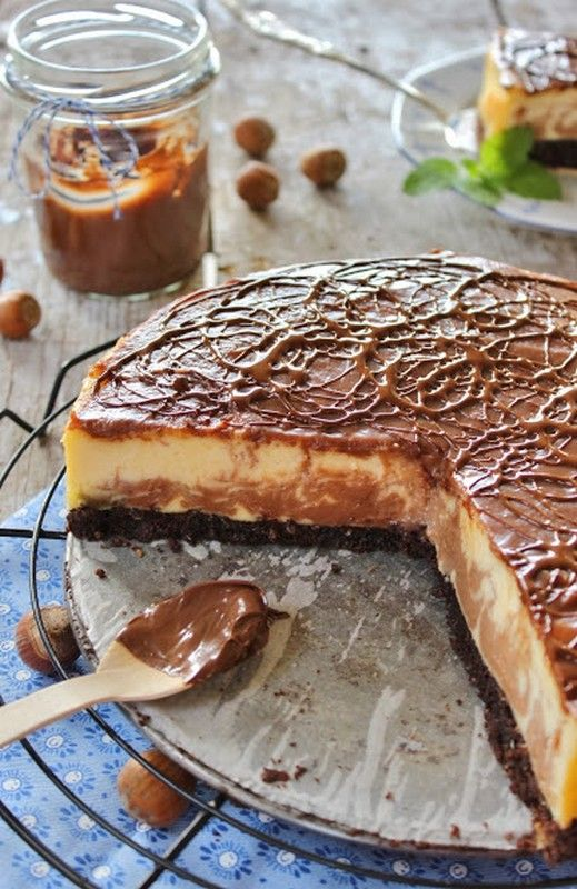 NUTELLÁS CHEESECAKE