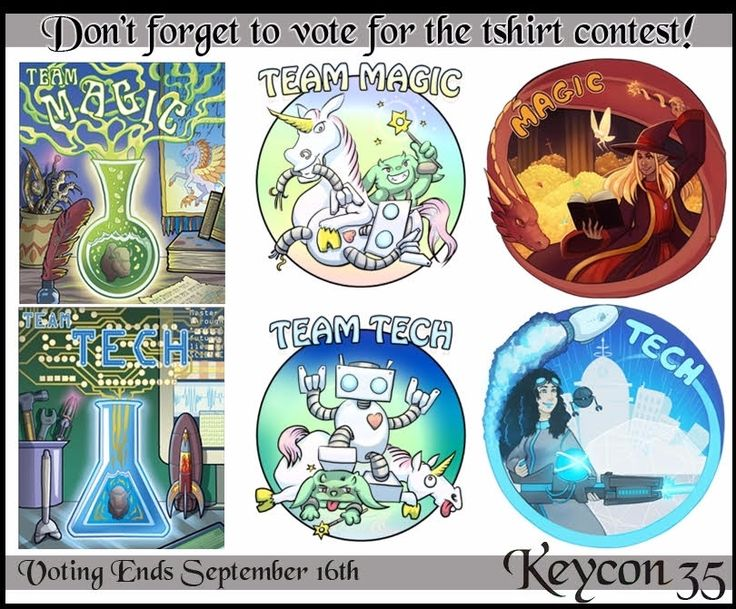 The #Keycon 35 T-shirt contest is coming to a close, get your votes in for your favourite magic and tech designs before it's too late!  http://www.keycon.org/35/t-shirt-vote/