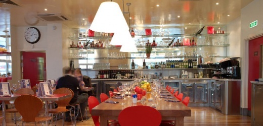 Carluccio's restaurant in Putney, SW15 (London). Sit literally by the Thames on a sunny day. Great food and service.