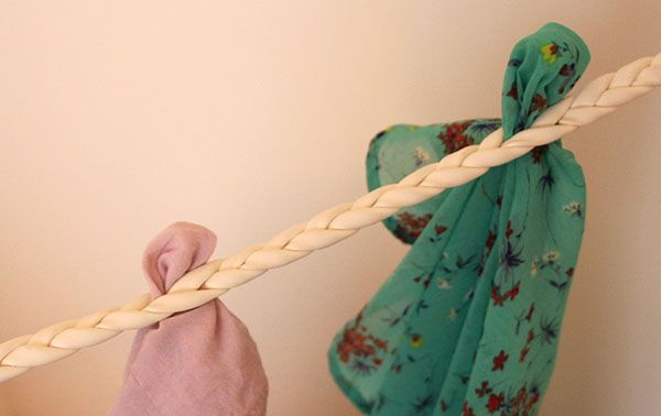 Rick Steves braided laundry line  - great for hanging clothes to dry when you travel.