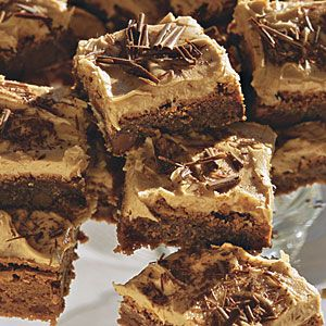 Cappuccino-Frosted Brownies. I MUST make these!