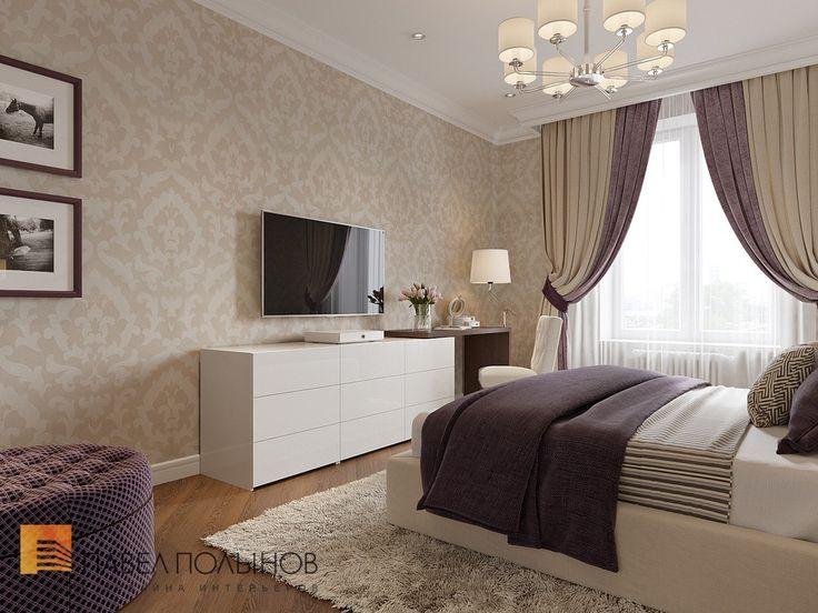 Спальня  в стиле американской неоклассики