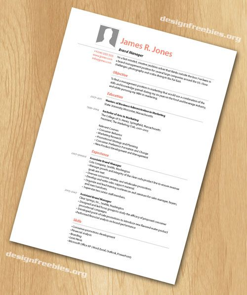free indesign resume cv template 2
