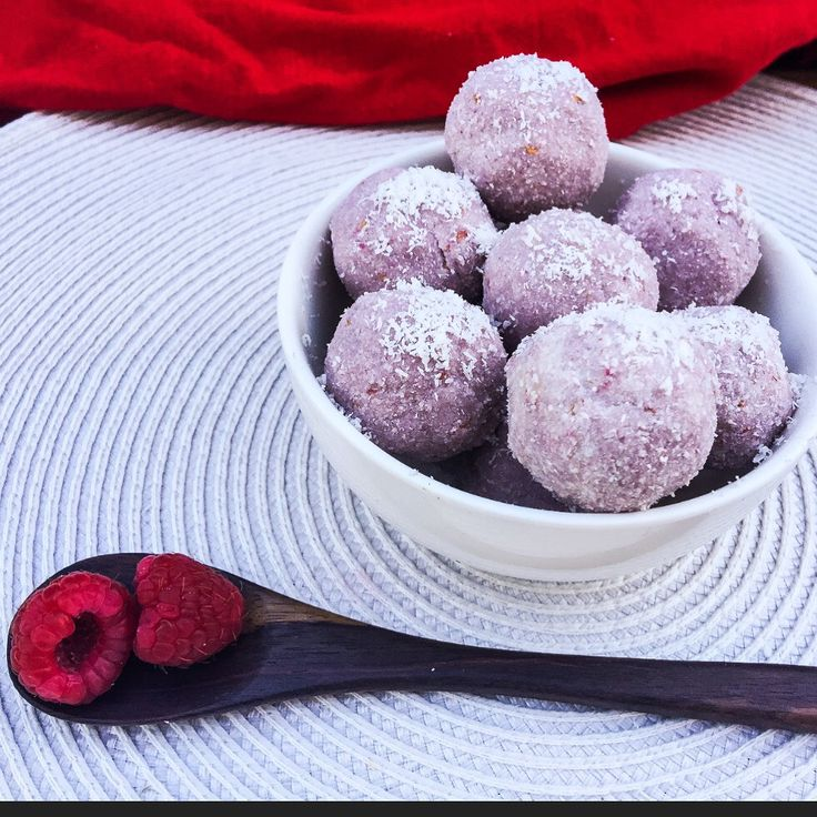 Raspberry Coconut Ice Bliss Balls