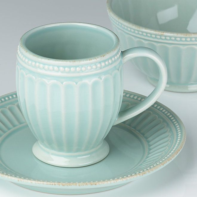 French Perle Everything Ice Blue Dinnerware By Lenox