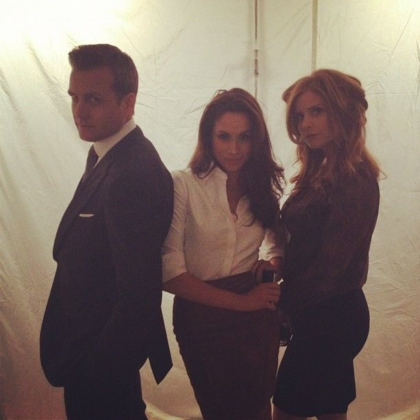 Gabriel Macht, Meghan Markle and Sarah Rafferty.  Photo by Patrick J. Adams.