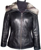 4000 STANDARD Grade Real Genuine Black Soft Supple Light Lambskin Leather Short Jacket Parka Fixed Hood with Faux Fur, Zipper Front Closure, Zipped Slash Pocket, Lined, ZIP OUT FAKE FUR VELOUR LINER, Petite Regular Plus Size