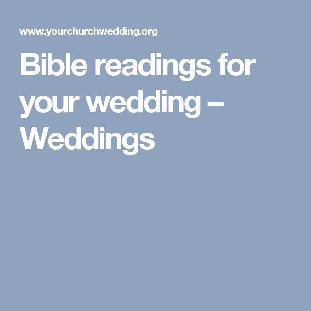 Bible readings for your wedding – Weddings