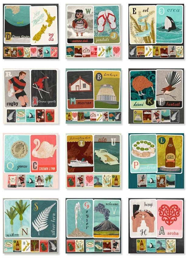 2015 ABC calendar by Tanya Wolfkamp, published by Live Wires NZ Ltd.